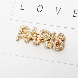 Accessories - Pearl Hair Clip Pin Paris Gold City Word